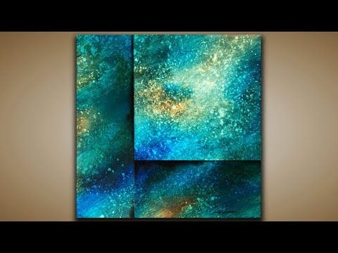 Depth and texture / Abstract painting / Demonstration 126 / Galaxy / Acrylic colors / Drawing technique – YouTube