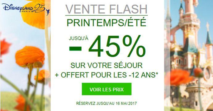 Retour de la vente flash Disneyland Paris