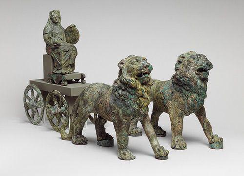 Statuette of Cybele on a cart drawn by lions [Roman] (97.22.24) | Heilbrunn Timeline of Art History | The Metropolitan Museum of Art