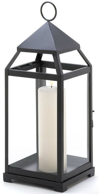 Impressive in size and simple in shape this sleek metal candle lantern lends a clean contemporary feel to any surrounding. Large contemporary candle lantern by Rustica House. #myRustica