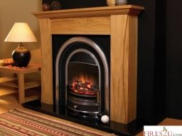 "The Flamerite Austen Electric fireplace Suite can be easily installed, floor standing so no inset required and can be fitted on any flat wall. This Flamerite Tennyson electric fire comes with a Radia Flame 3D picture which produces a strong and radiant flame image with a deep fuel reflection  The Flamerite Austen 54"" Electric fireplace suite has a multifunction remote control including double dimmer for flames and fuel bed  Unique switchable fuel effect flicker  The Flamerite Austen Electric…"