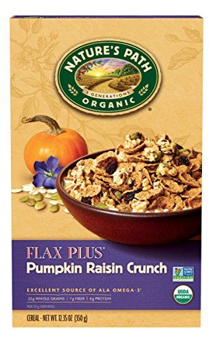 Natures Path Organic Cereal Flax Plus Pumpkin Raisin Crunch 1235 Ounce Box Pack of 6 * Click image to review more details.