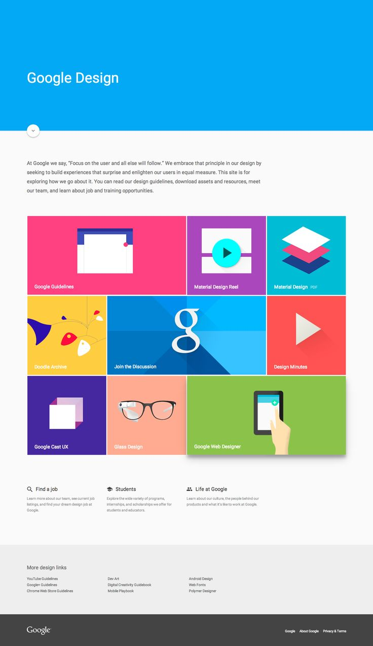 Google Material Design Language | web development : UI | web : search : Google | infographic : 1 | 1:2 | ram55