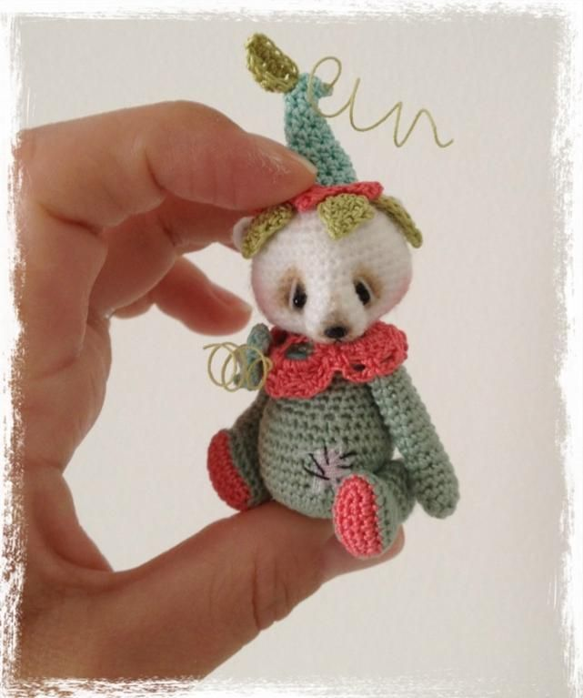 Looking for crocheting project inspiration? Check out Miniature Crochet Bear WhiMzee by member TheTinyToyBox. - via @Craftsy ♡