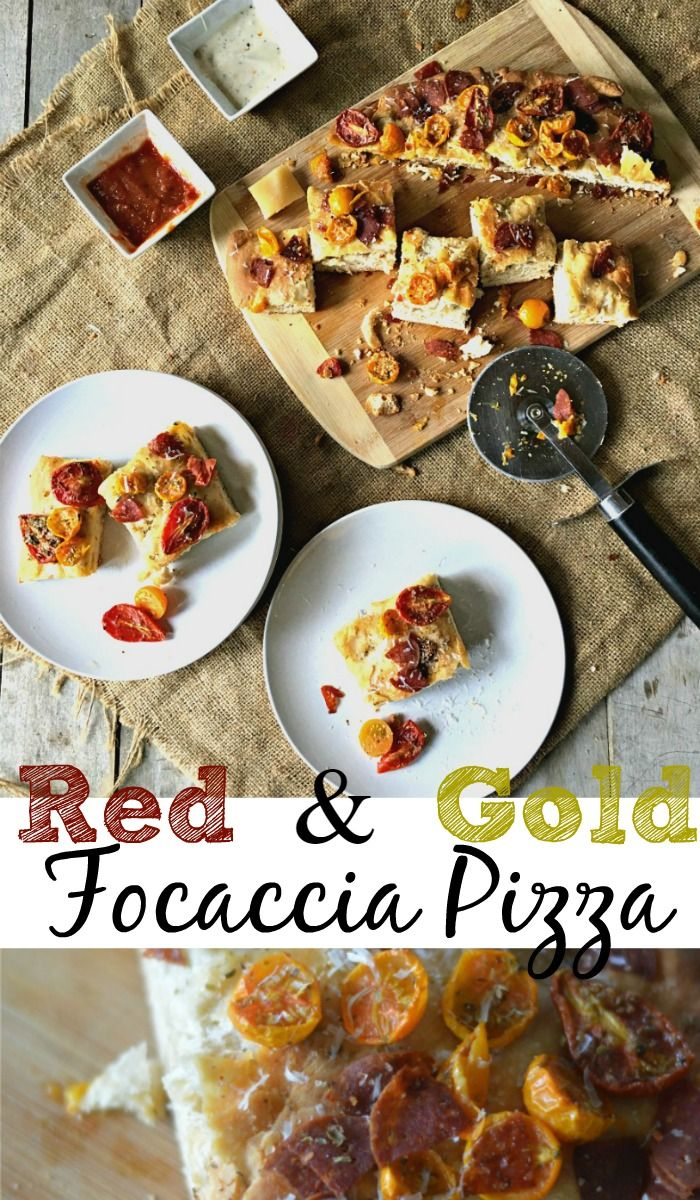 Red & Gold Focaccia Pizza Kansas City Chiefs style! It's the perfect…