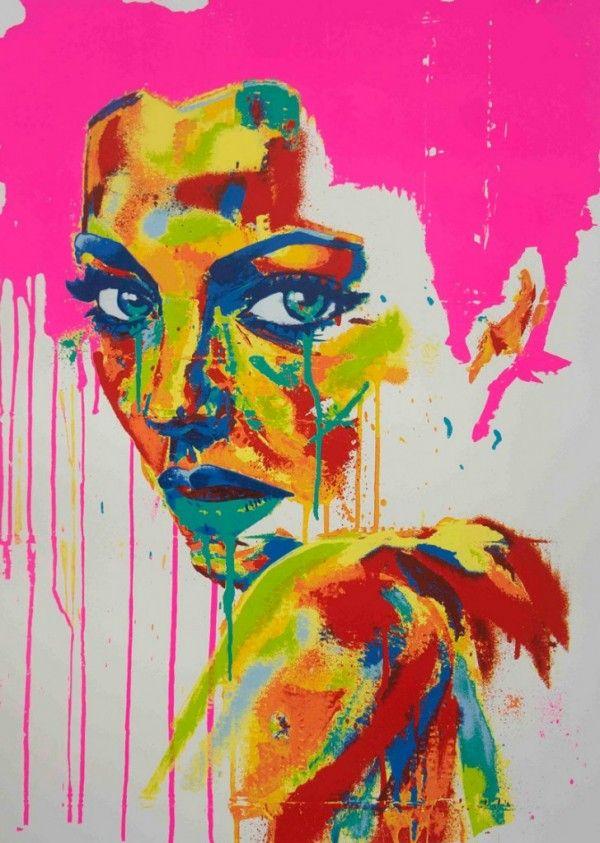 Graffiti Inspired Portrait Painting by Rowan Newton