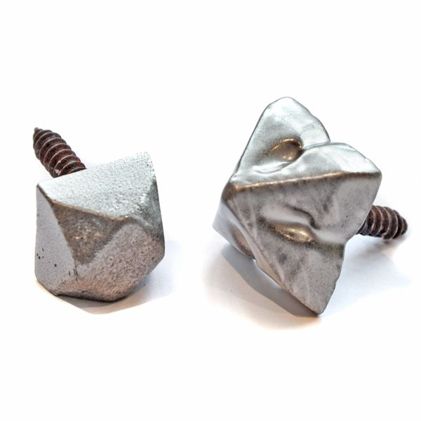 Kirkpatrick 153 Iron Door Studs - Pewter Finish - These are quality, iron door studs. Available in a square or diamond style and in various sizes. Unsurpassable British quality, hand forged in a foundry in the West Midlands.