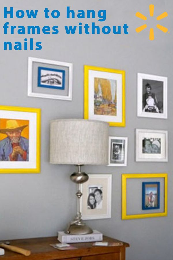 Add a touch of charm to any room with a gallery that wraps around the walls, without destroying them. Learn more on how to create the perfect gallery wall without the mess at Walmart.com.