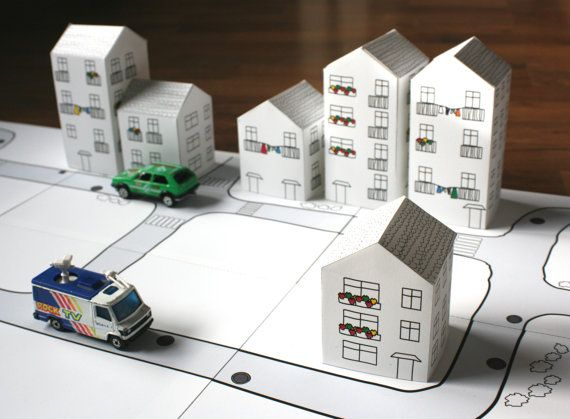 paper toy  CITY by PAPERDOL on Etsy, $4.50