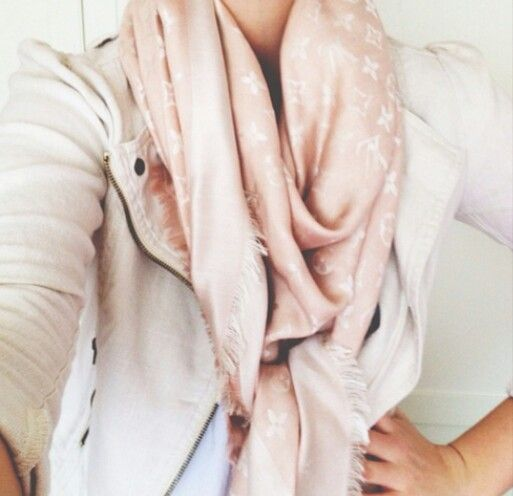 Louis Vuitton Monogram Denim Shawl in Rose