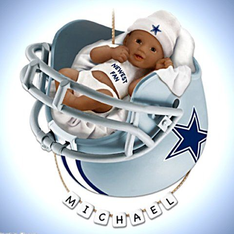 111 best nfl dallas cowboys images on pinterest nfl dallas nfl dallas cowboys personalized african american baby christmas ornament negle Choice Image