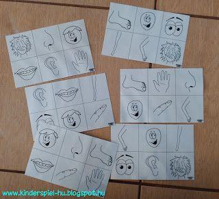 Kinderspiel: Bingo Körperteile