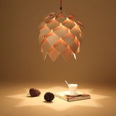 Lámpara colgante de la vendimia de madera de luz creativa de la pendiente del techo bricolaje altillo de restaurante sala de estar