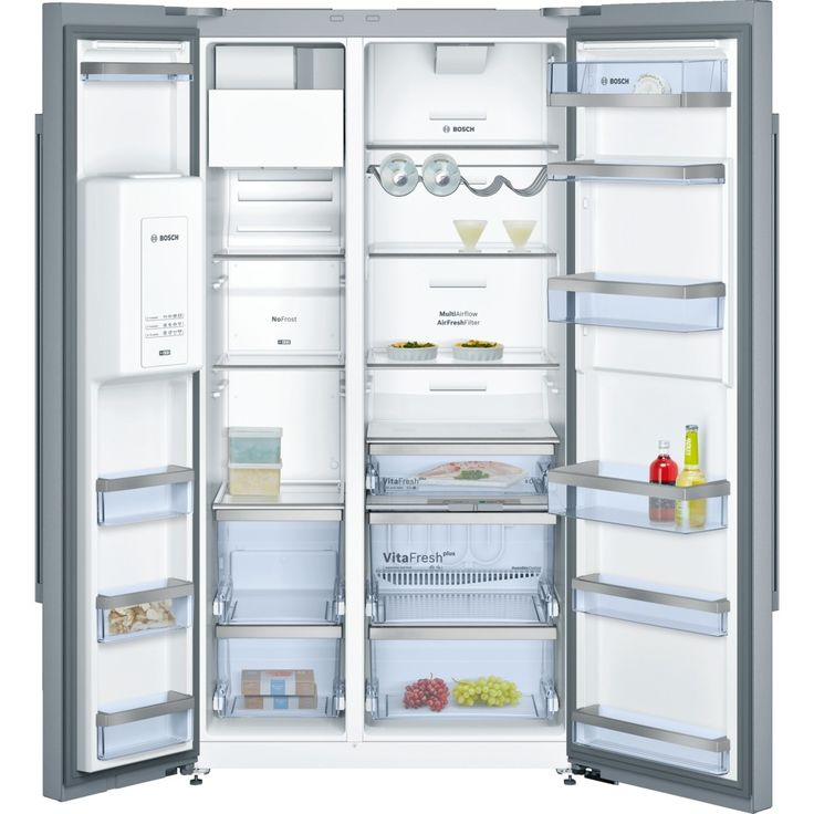 American Fridge Freezer With Drawers Part - 23: Bosch Serie 6 American-Style Stainless Steel Fridge Freezer KAD92AI30