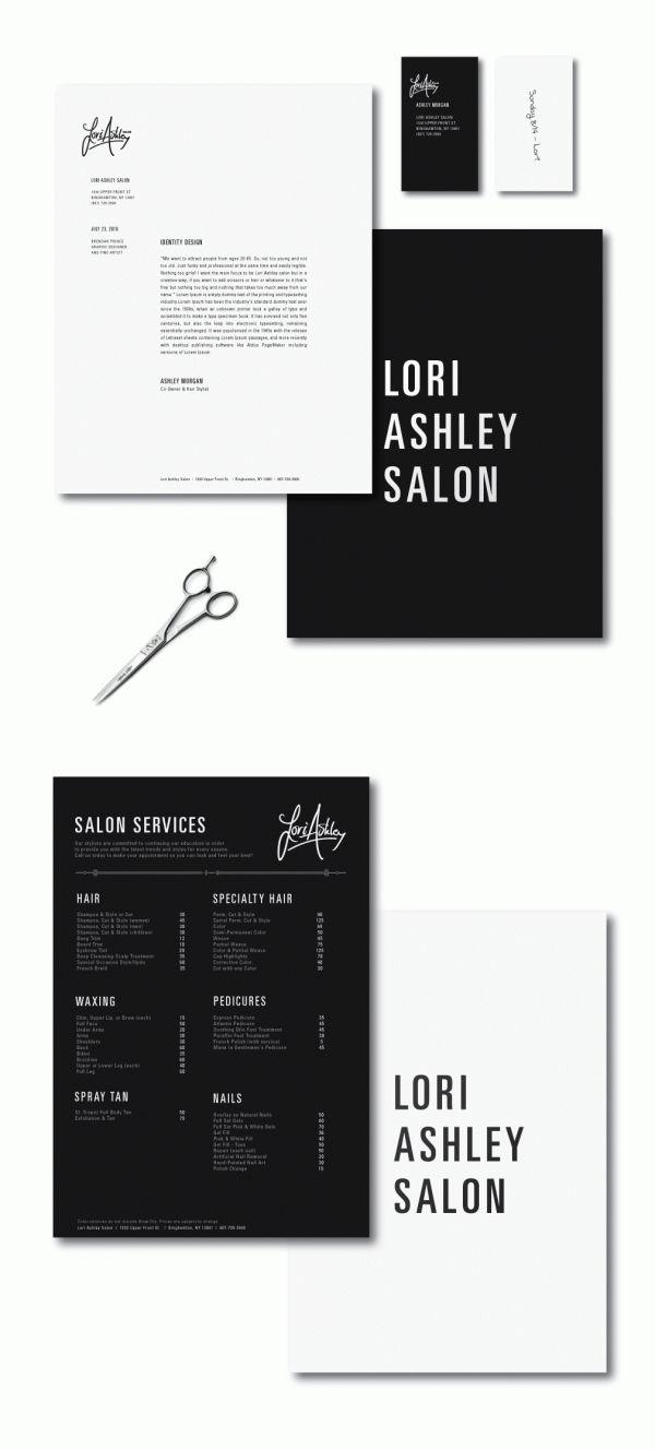 branding lori ashley salon #design #branding #identity