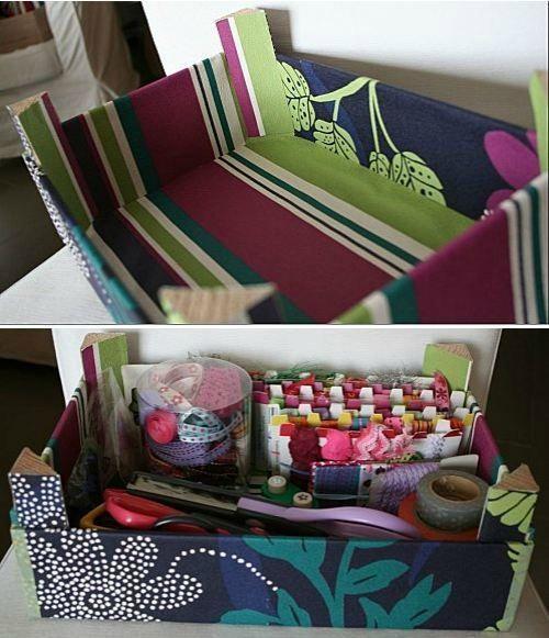 Cajas de frutas decoradas con tela