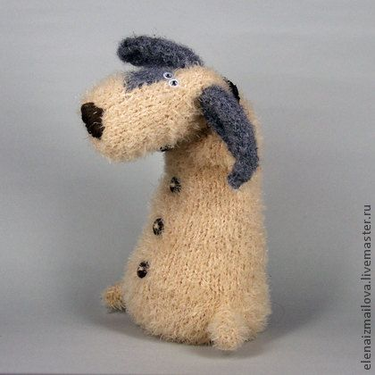 Барбосик - бежевый,подарок на любой случай,авторская ручная работа,авторская игрушка