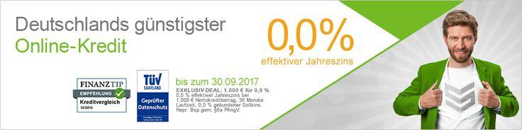 Smava Kredit Deutschlands günstigster Online-Kredit. 0 %  effektiver Jahreszins Gleich hier kostenlosen Antrag ausfüllen: http://aklam.io/tt6pp9