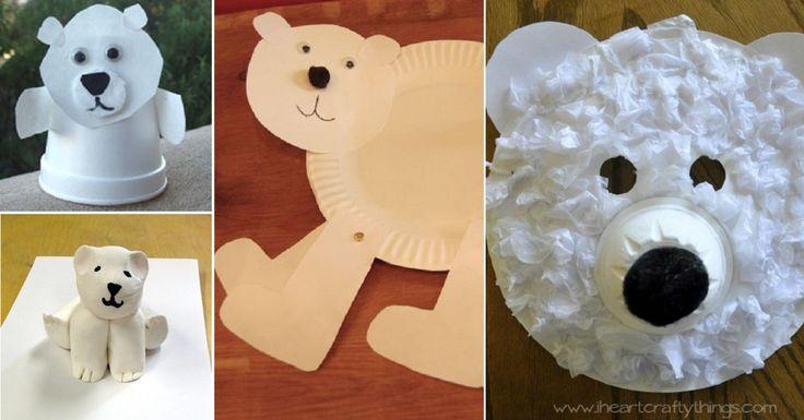 15 mod les d 39 ours polaire bricoler avec les enfants. Black Bedroom Furniture Sets. Home Design Ideas