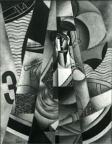 Nazi plunder - Jean Metzinger, 1913, En Canot (Im Boot), oil on canvas, 146 x 114 cm (57.5 in × 44.9 in), exhibited at Moderni Umeni, S.V.U. Mánes, Prague, 1914, acquired in 1916 by Georg Muche at the Galerie Der Sturm, confiscated by the Nazis circa 1936, displayed at the Degenerate Art show in Munich, and missing ever since Wikipedia, the free encyclopedia
