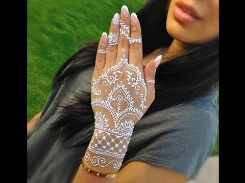 Diy how to apply white henna body paint temporary tattoo for White henna tattoo ink