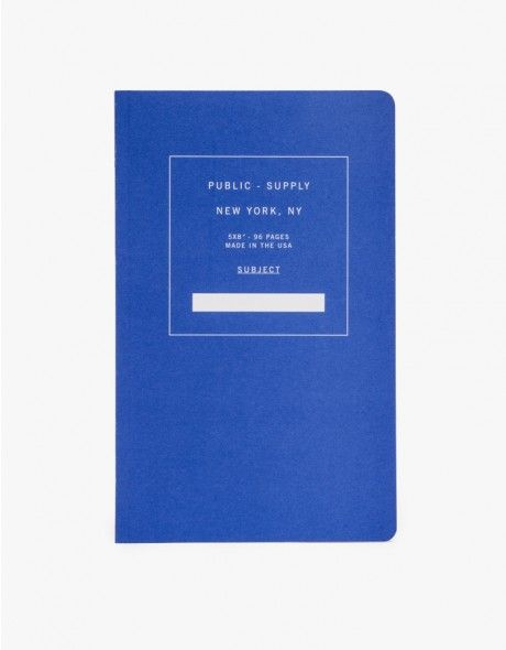 Multi-purpose, soft cover notebook from Public Supply. Features a paperback design with 96 pages of ruled paper.   •Multi-use, soft cover notebook •96 pages •Ruled pages •Made in USA