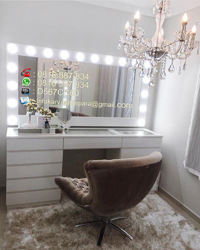 Meja Rias Lampu Led Ini Dibuat Dengan, Diy Lampu Makeup