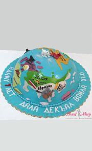 d.019 Торт «Земной шар»
