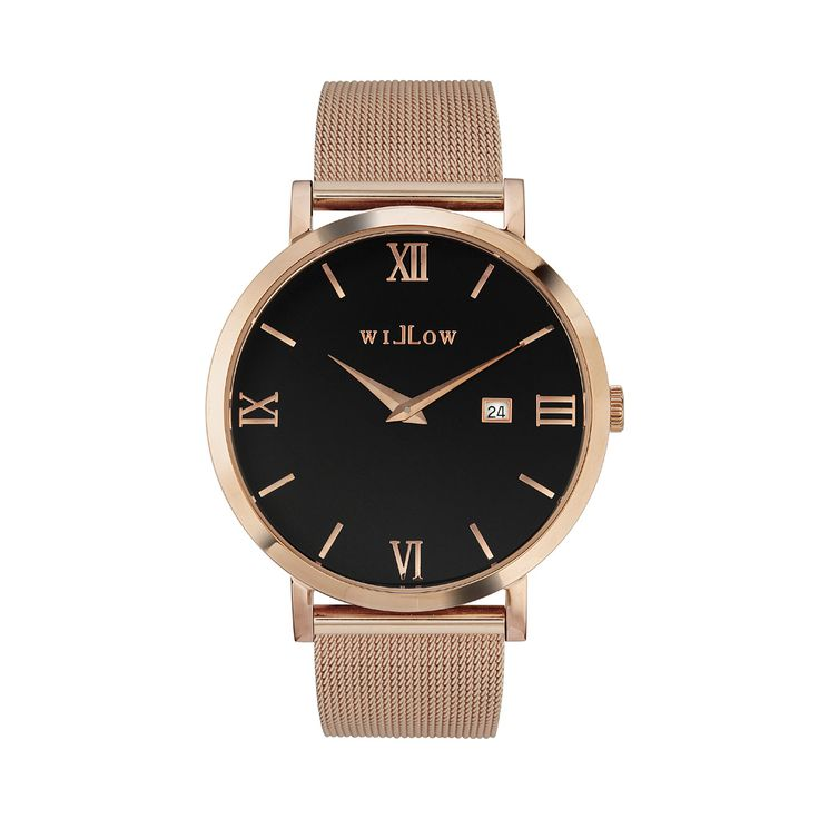 Roma Rose Gold Watch & Interchangeable Rose Gold Mesh Strap.