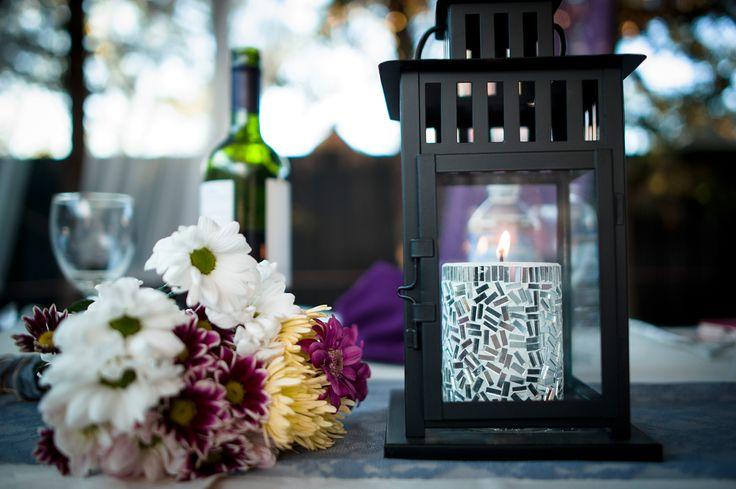 lantern center piece - Ikea candel - pier one imports