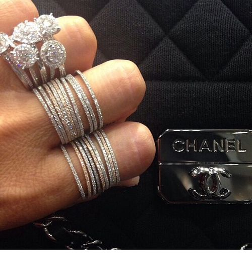 Chanel I love those thin diamond in rings