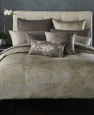 donna karan home atmosphere pewter quilted european sham bedding collections bed u0026 bath macyu0027s