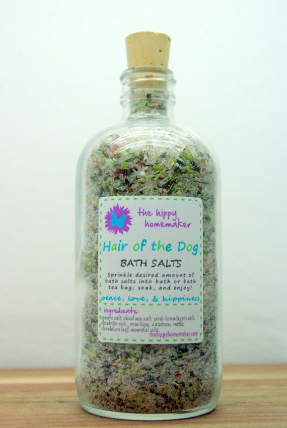 Hair of the Dog Bath Salts - Hangover relief bath - Eco Friendly packaging