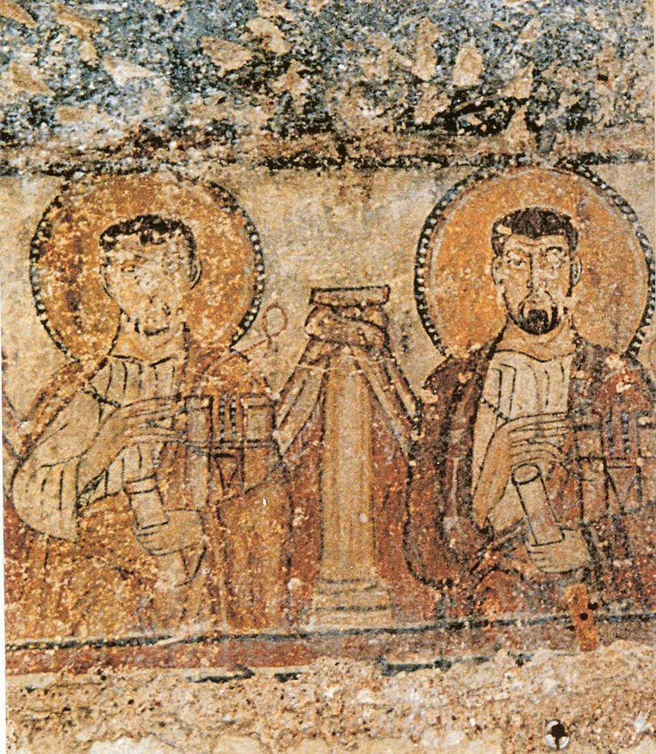 SS.Cosma e Damiano, Oratorio delle catacombe di S.Lucia, Siracusa, prima metà VIII secolo