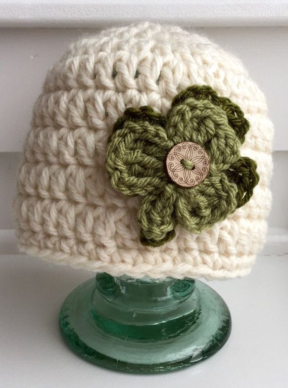 Crochet St. Patrick's Day hat/ Shamrock hat/ by everythingglitzy