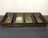 Vintage Industrial Loaf Pan Tray/Organizer