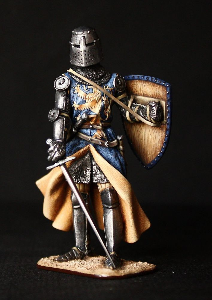 Medieval English Knight Tin toy soldier 54 mm., figurine, metal sculpture. #Spbdolls