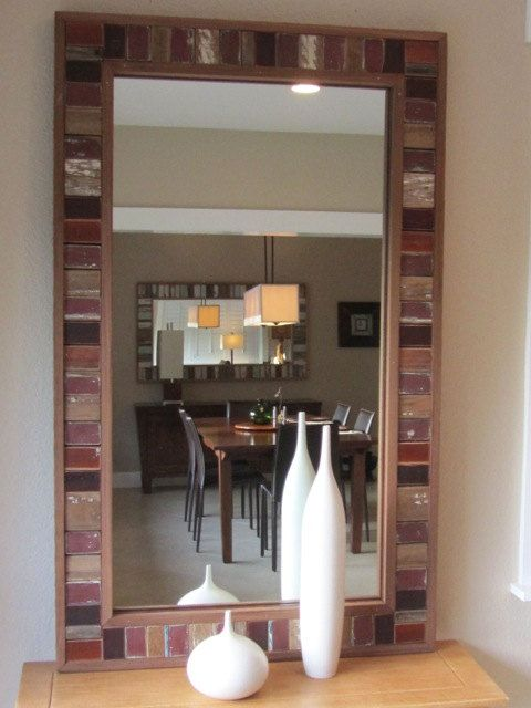 items similar to reclaimed wood mirror on etsy - Reclaimed Wood Mirror