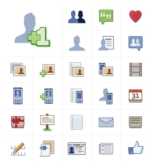 @Ben Barry's work to make Facebook's 16x16px icons function at larger sizes.