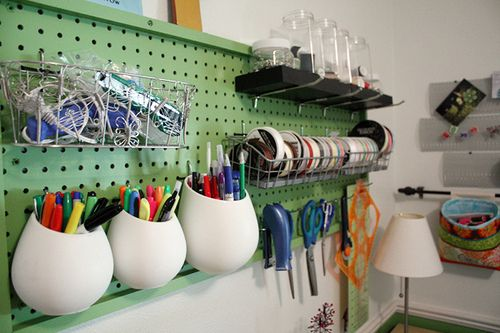 Love this for keeping supplies handy and organized in home office.