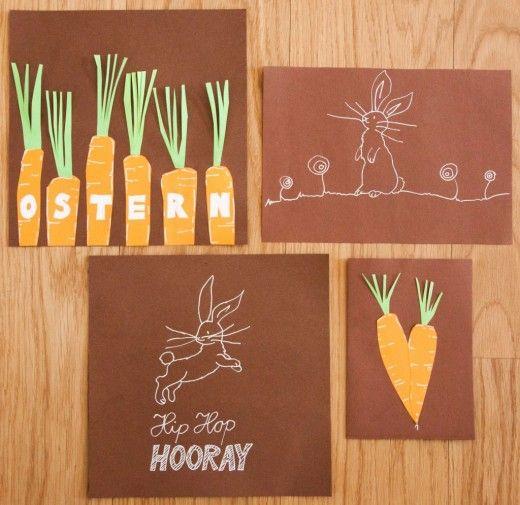 Osterkarten basteln - Easter cards