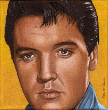 Elvis 24 1965 series of 25 small paintings from 1954 until 1977 15 x · pencil art drawingsmarker
