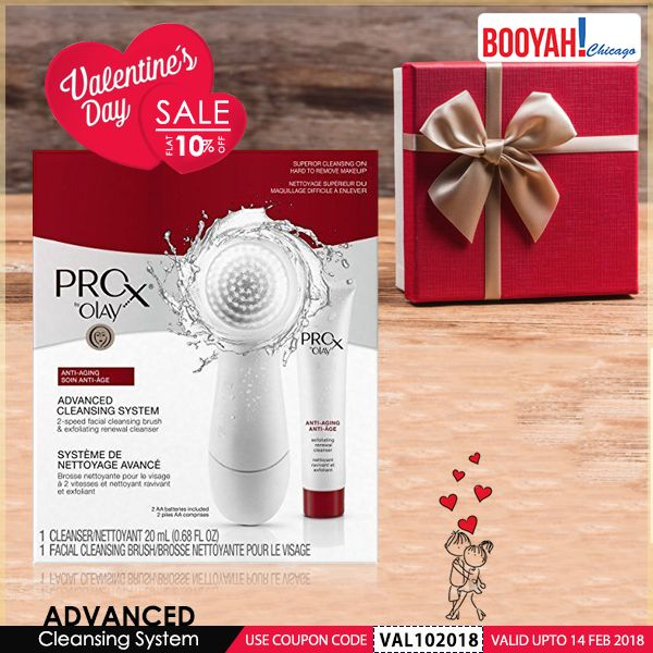 #GenuineImportedProductsDirectFromUSA Only at Booyahchicago.com Olay ProX Advanced Cleansing System with Facial Brush White. #Sale #Valentine #ValentineSale #GiftIdeas #WomensGrooming #Grooming #SkinCare