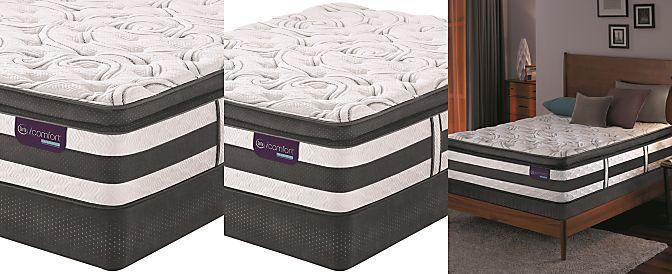 serta icomfort hybrid advisor plush pillowtop queen mattress set