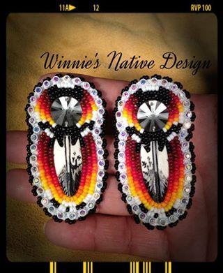Beaded earrings, Winnie's Native Design ( https://www.facebook.com/WinniesNativeDesign )