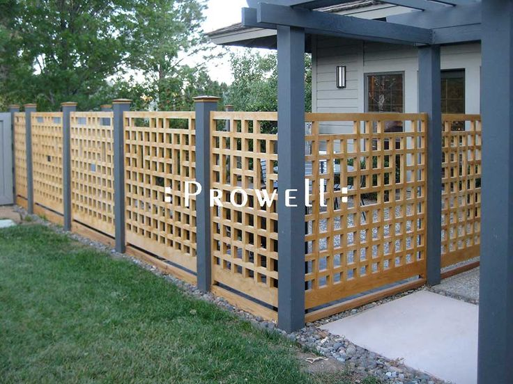 Garden Wooden Fence Designs trelliswork fences in toronto Semi Private Garden Fence Design
