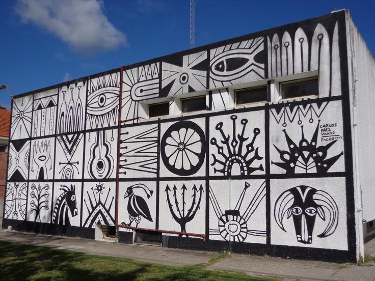 Mural de Carlos Paéz Vilaró en el Hospital de San Carlos - Maldonado - Uruguay