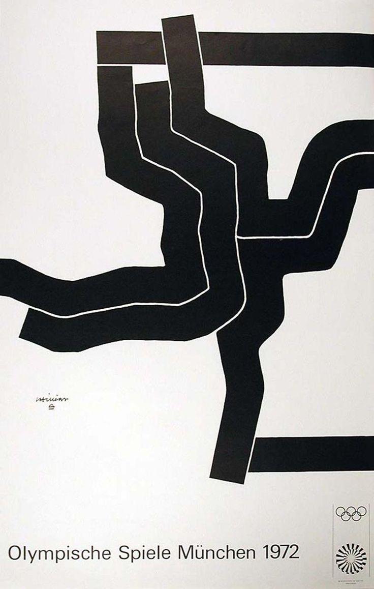 1972 Munich Olympic Games Art Series Poster Artist: Eduardo Chillida #olympics