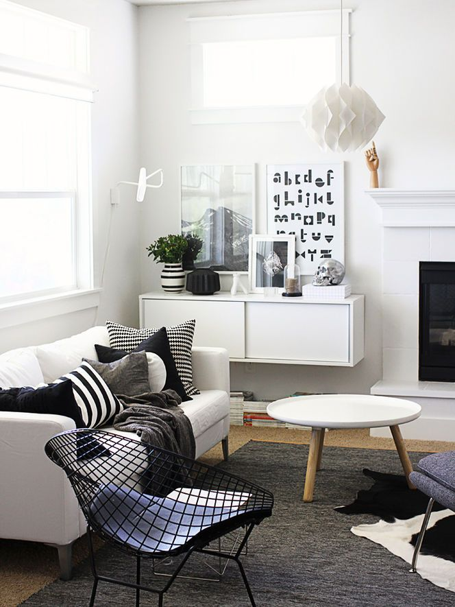 Like the idea of black and white....wall mounted cabinet