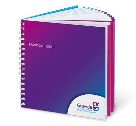 Really cool brand guidelines designed for Gravida.
